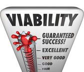 Viability Word Thermometer — Stock Photo