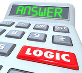 Logic Word Calculator Numbers Formula — Stock Photo