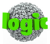 Logic Word Letter Sphere — Stock Photo