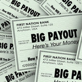 Big Payout Many Checks — Stock Photo