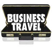 Business Travel Briefcase Words — Stock Photo