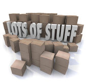 Lots of Stuff Cardboard Boxes — Stock Photo