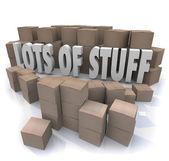 Lots of Stuff Cardboard Boxes — Stock Photo