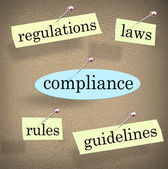 Compliance Rules Regulations Laws — 图库照片