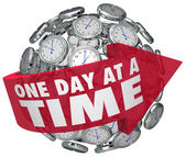 One Day at a Time Clock Sphere — Stock Photo
