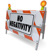 No Negativity Road Construction Sign — Stock Photo