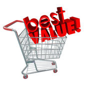 Best Value Words Shopping Cart — Stock Photo