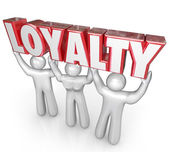 Loyalty Word People Team Lifting Together — Stock Photo