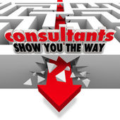 Consultants Show You the Way — Stock Photo