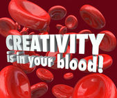 Creativity is in Your Blood Red Cells — Stock Photo