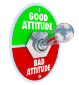Good Vs Bad Attitude Toggle Switch — Stock Photo