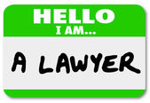 Lawyer Hello Name Tag — Stock Photo