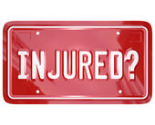 Inured License Plate Car Accident — Stock Photo
