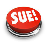 Sue Red Round Button — Stock Photo