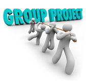 Group Project People Collaboration — Stock Photo