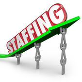 Staffing Word Arrow — Stock Photo