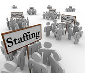 Staffing Signs Groups Employees Human Resources — Stock Photo