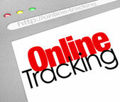 Online Tracking Website — Stock Photo