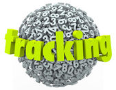 Tracking Word Numbers Online Data — Stock Photo