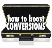 How to Boost Conversions Briefcase — Stockfoto