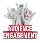 Audience Engagement Cheering — Stock Photo