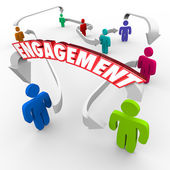Customer Audience Engagement People — Stock Photo