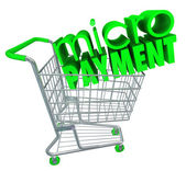 Micro Payments Shopping Cart — Stock Photo