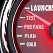 Launch Test Prepare Plan Idea Speedometer — Stock Photo #46063979