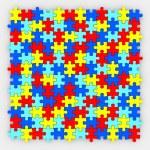 Puzzle Pieces Background — Stock Photo