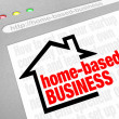 Home Based Business Advice Information — Stock Photo