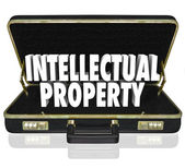 Intellectual Property Words Briefcase — Stock Photo
