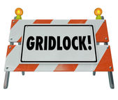 Gridlock Road Barrier Barricade — Stock Photo