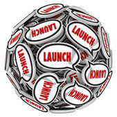 Launch Word Speech Bubbles — Stock Photo