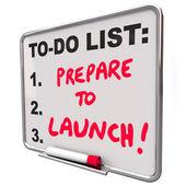 Prepare To Launch Dry Erase Board — Stock Photo
