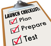 Launch Checklist Plan — Stock Photo