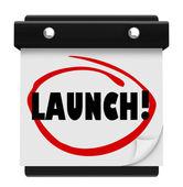Launch Day Date Calendar — Stock Photo
