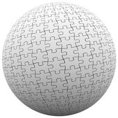 Puzzle Piece Sphere Ball — Stock Photo