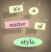 Its a Matter of Style Words — Stock Photo