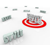 Standout Style Best Target — Stock Photo
