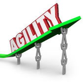 Agility Team Working Quickly — Stock Photo