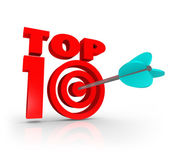 Top 10 Score Arrow Target — Stock Photo