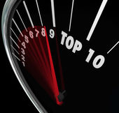 Top 10 Speedometer — Stock Photo