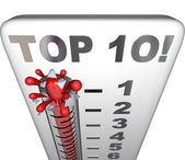 Top 10 Thermometer — Stock Photo