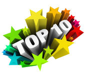 Top 10 Ten Stars — Stock Photo