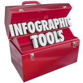 Infographic Tools Toolbox — Stock Photo