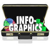 Infographics Briefcase Sales — Stock Photo