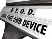Bring Your Own Device Sign — Stock Photo