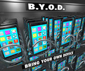BYOD Smart Cell Phone Vending Machine — Stock Photo