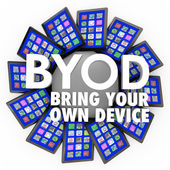 BYOD Bring Your Own Device — Stock Photo