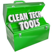 Clean Tech Tools Toolbox — Stock Photo